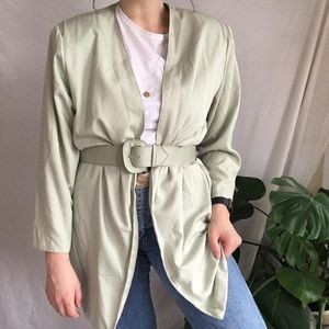 Vintage Pistachio Relaxed Blazer/Duster